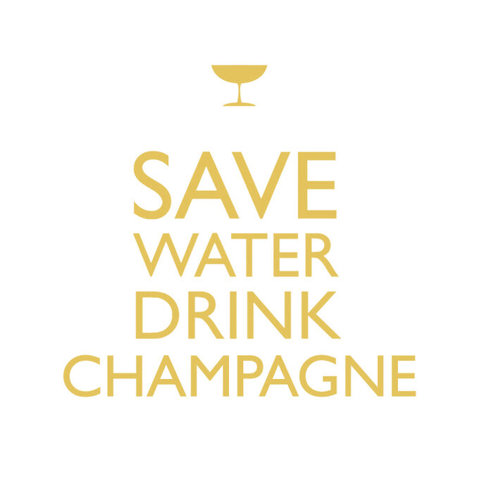 """""""Save Water Drink Champagne"""" Paper Cocktail Napkins"""