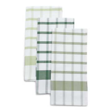 Plaid Twill Kitchen Towels, Set of 3