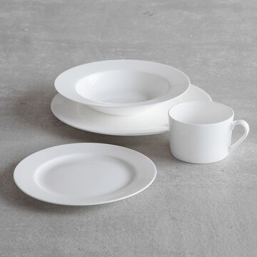 Gourmet Essentials Bone China Classic Salad Plates, Set of 4
