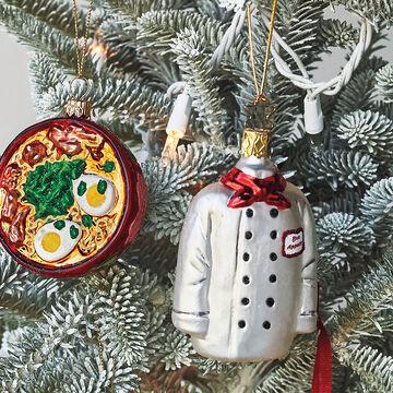 Chef Coat Glass Ornament