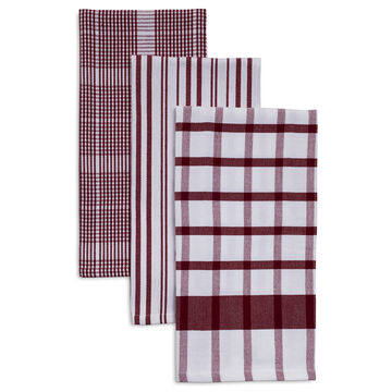 "Assorted Twill Kitchen Towels, 28"" x 20"", Set of 3"