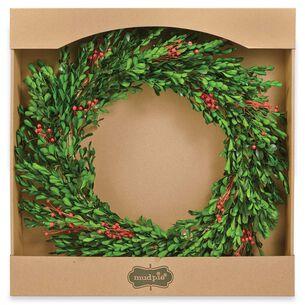 Preserved Flax Boxwood Wreath