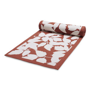 "Flocked Acorn Table Runner, 108"" x 16"""