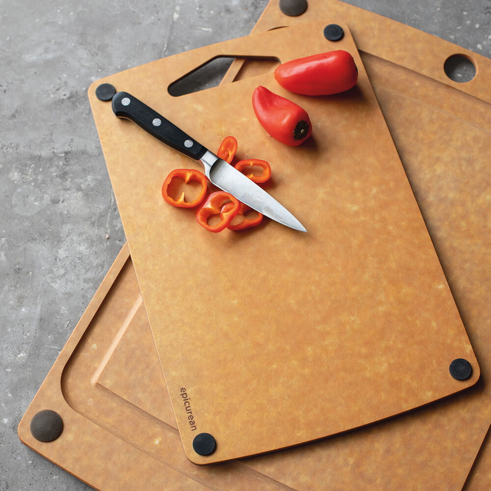 "Epicurean 17.5"" x 13"" Nonslip Groove Cutting Board with Bonus 13"" x 8.5"" Board"