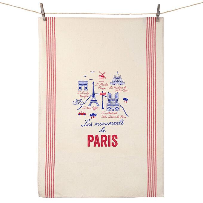 Tissage de L'Ouest Les Monuments de Paris Towel