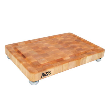 "John Boos Signature Cutting Board with Stainless Steel Feet, 18"" x 12"""