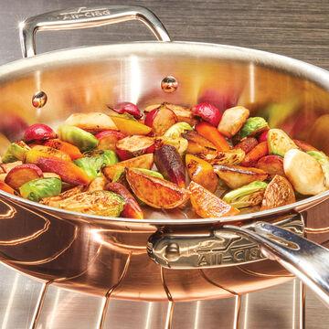 All-Clad c4 Copper Sauté Pan with Lid, 3 qt.