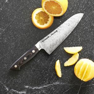 "Bob Kramer 7"" Stainless Damascus Santoku Knife by Zwilling J.A. Henckels"