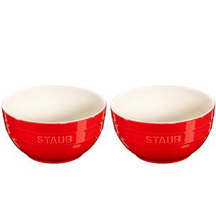 Staub Ceramic Bowls, Set of 2