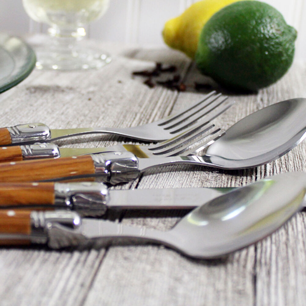 French Home Laguiole 20-Piece Stainless Steel Flatware Set