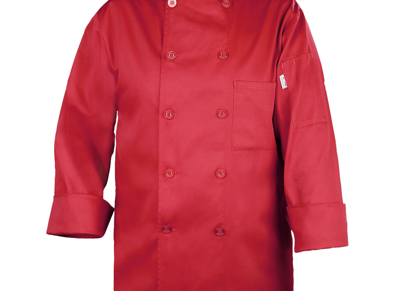 Chef Works Basic Red Chef's Coat | Sur La Table