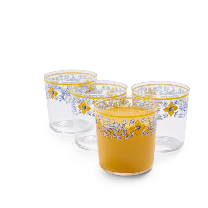 Mercado Outdoor Double Old-Fashioned Glasses, Set of 4
