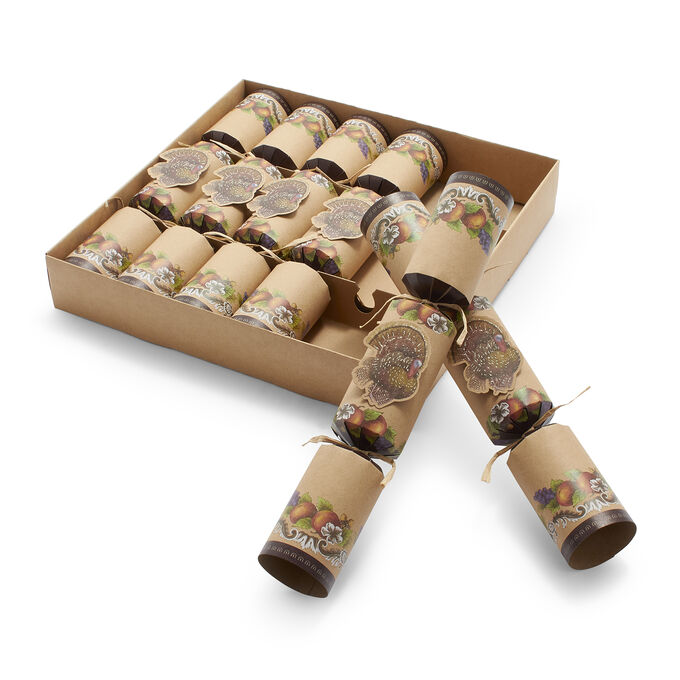 Thanksgiving Party Crackers, Set of 6