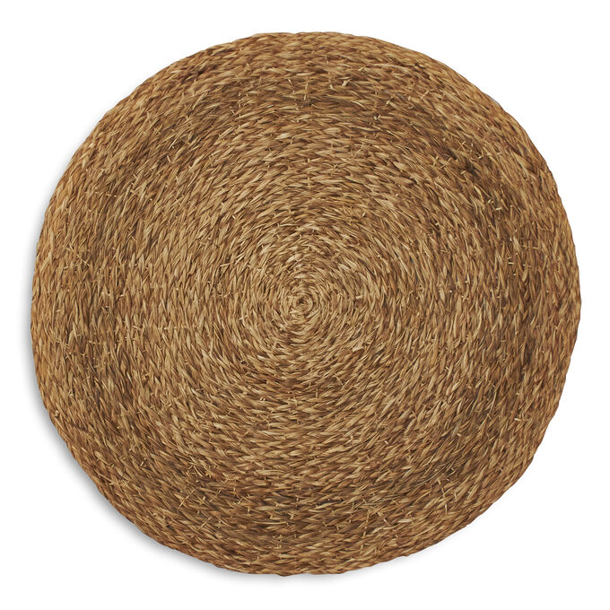 """Round Braided Abaca Placemat, 14"""""""