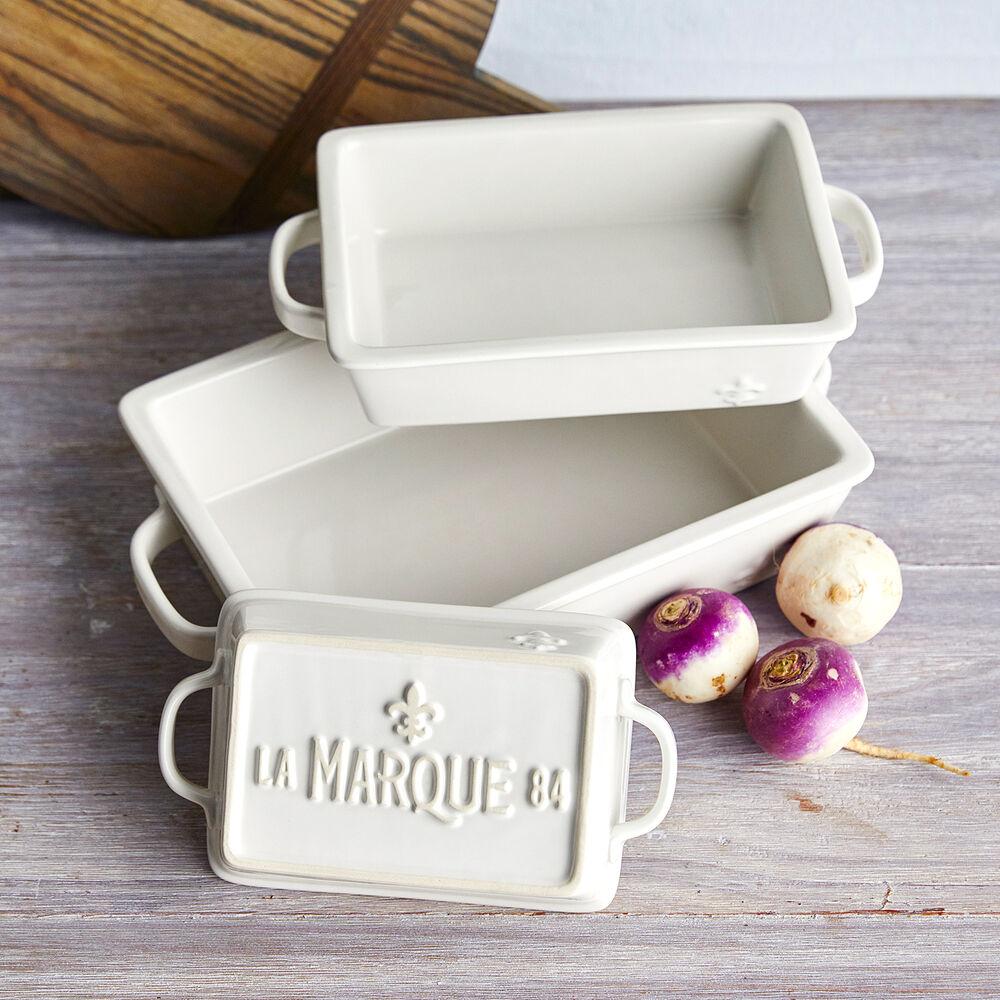 Sur La Table La Marque 84 Stoneware 3-Piece Baker Set with Lids