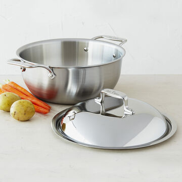 All-Clad d5 Brushed Stainless Steel Dutch Oven