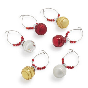 Ornament Wine Charms, Set of 6