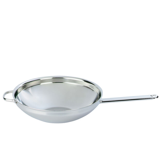 Demeyere Stainless Steel Flat-Bottom Wok