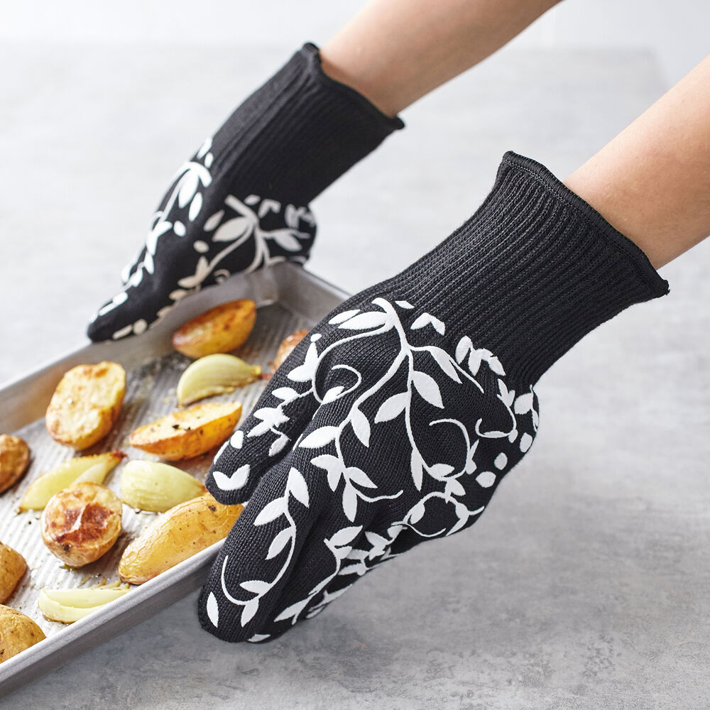 Floral Vine Large Oven Gloves, Set of 2