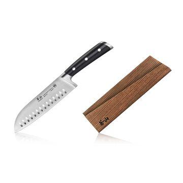 Cangshan TS Series Swedish Sandvik Steel Forged Santoku Knife & Wood Sheath Set