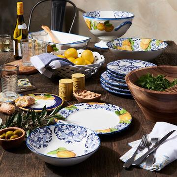 Blue Tile 12-Piece Dinnerware Set