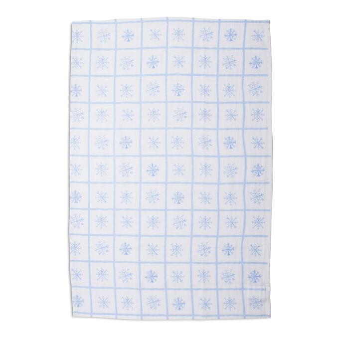 """Snowflake Flour Sack Kitchen Towel, 30"""" x 20"""""""