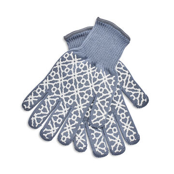 Small Tile Oven Mitts, Set of 2