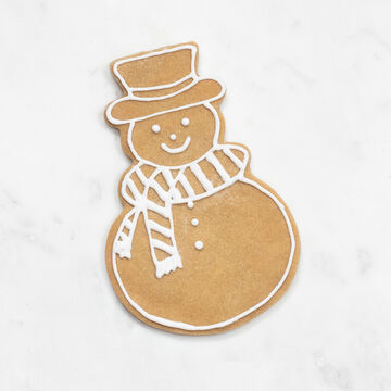 Sur La Table Copper-Plated Snowman Cookie Cutter with Handle