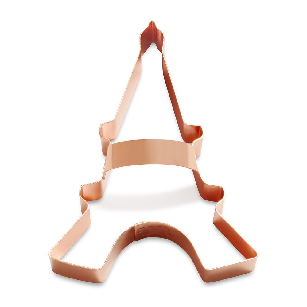 """Sur La Table Copper-Plated Eiffel Tower Cookie Cutter with Handle, 4"""""""
