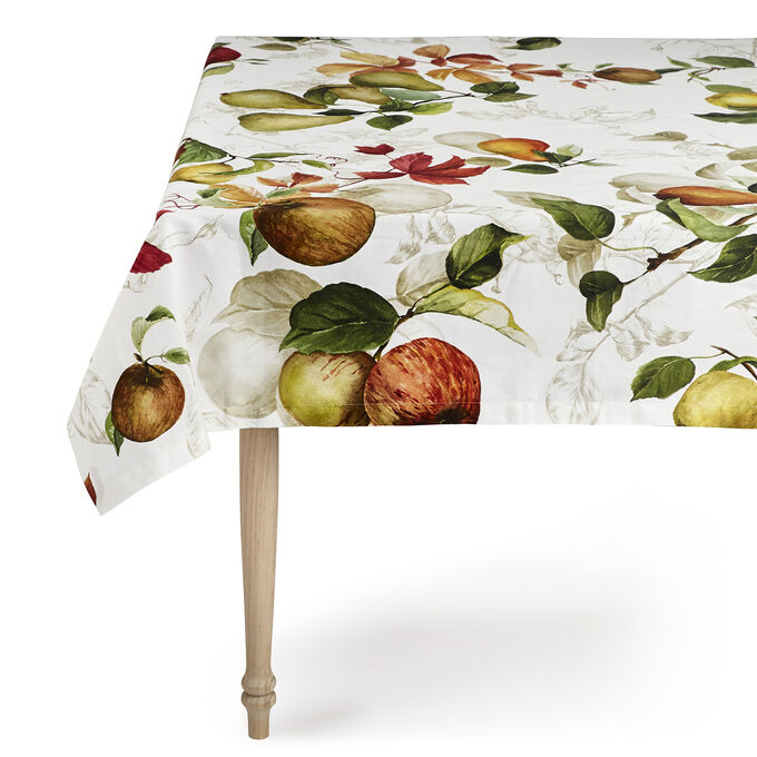"Autumn Fruit Tablecloth, 67"" x 67"""