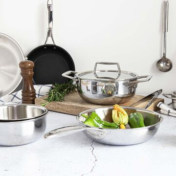Cristel Castel'Pro ULTRALU Nonstick Sauté Pans with Glass Lid