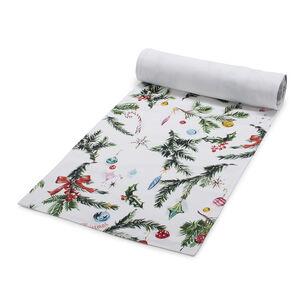 "Sur La Table Merry Christmas Tree Table Runner, 108"" x 16"""