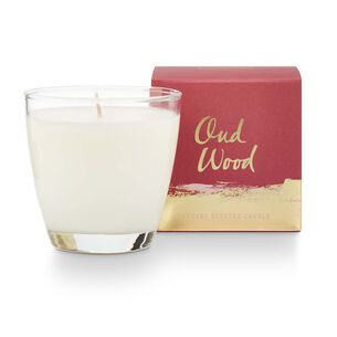 Illume Oud Wood Demi Boxed Soy Glass Candle, 4.7 oz.