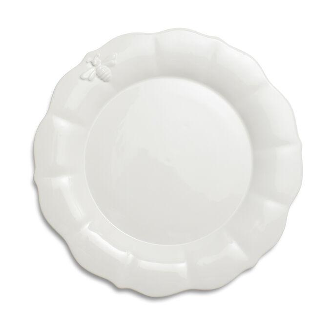 Embossed Bee Dinner Plate