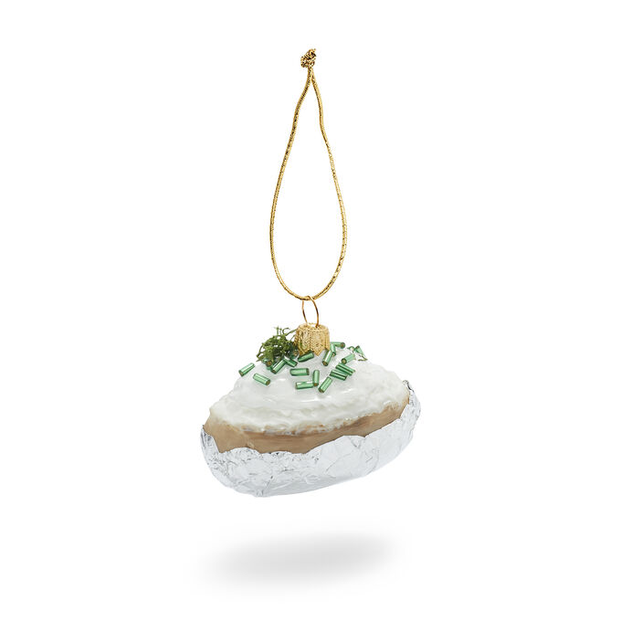 Baked Potato Glass Ornament