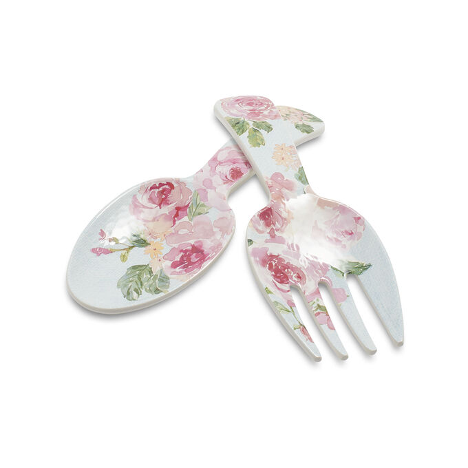 Rose Nuage Melamine Servers, Set of 2