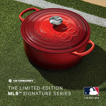 Le Creuset The Limited-Edition MLB™ Signature Series Red Sox Dutch Oven, 7.25 qt.