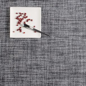 """Chilewich Boucle Black/White Placemat, 19"""" x 14"""""""