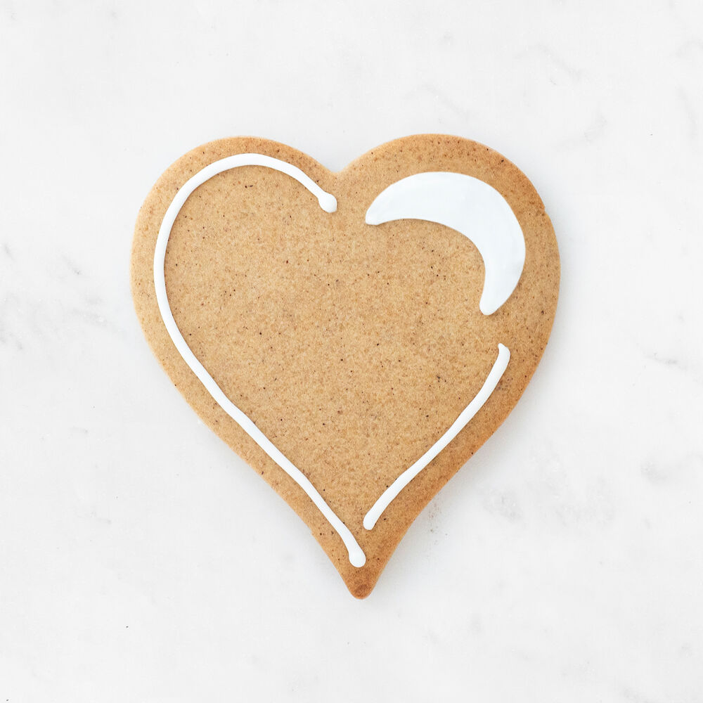 Copper-Plated Heart Cookie Cutters with Handle