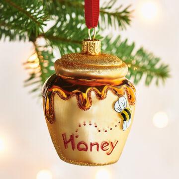 Honey Pot Glass Ornament