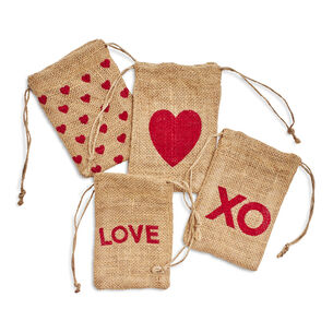 Valentine's Day Treat Bags, Set of 4