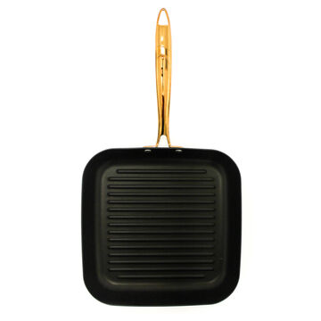 """BergHOFF Ouro Hard-Anodized Square Grill Pan, 10"""""""