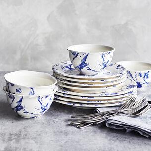 Blue Floral 12-Piece Dinnerware Set