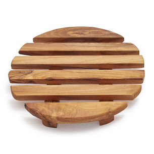 Sur La Table Round Olivewood Trivet