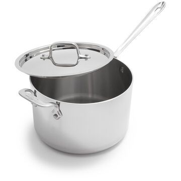 All-Clad d3 Stainless Steel Saucepans with Lids