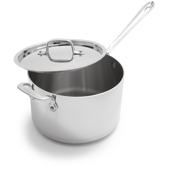 All-Clad D3 Stainless Steel Saucepan with Lid