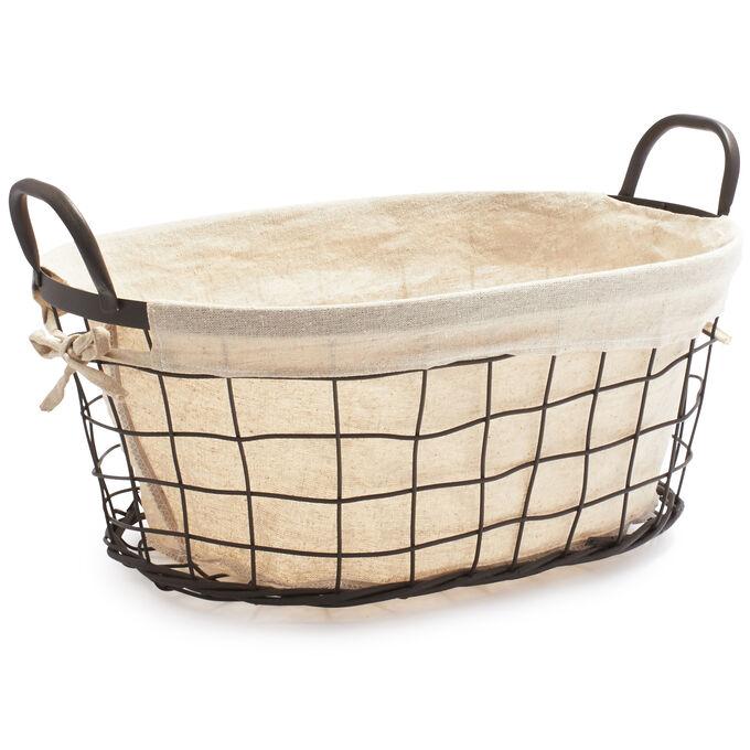 Madeline Basket with Linen Liner