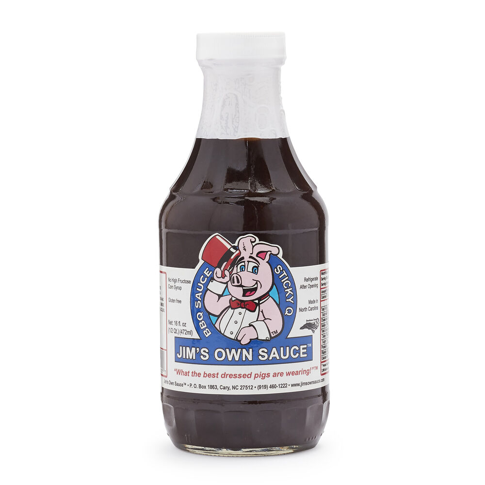 Jim's Own Sauce Sticky Q, 16 oz.