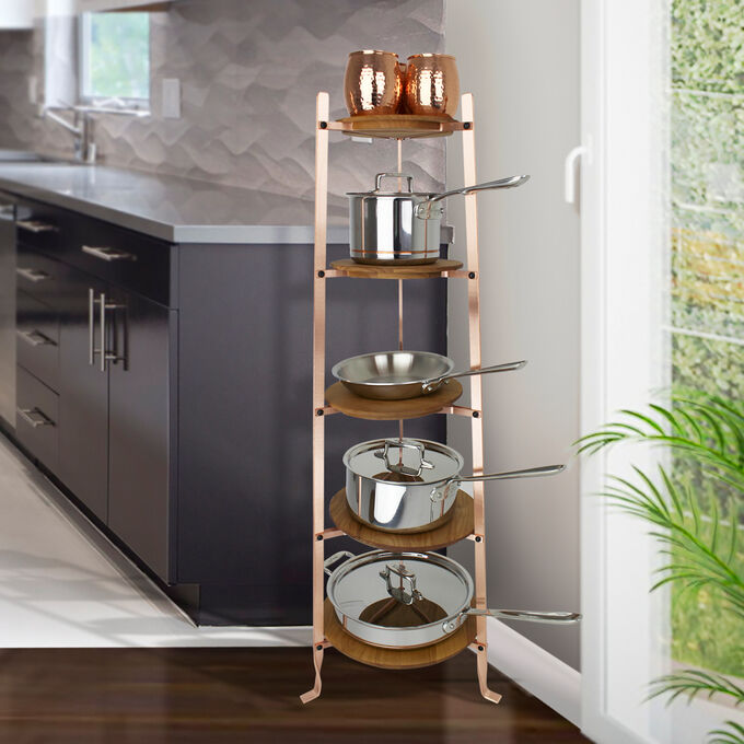 Enclume Handcrafted 5-Tier Gourmet Brushed Copper Stand (Unassembled)