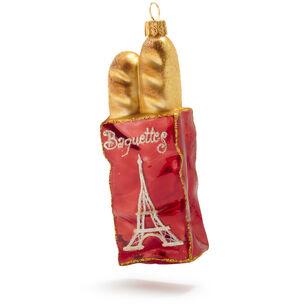 Baguette Bag Glass Ornament